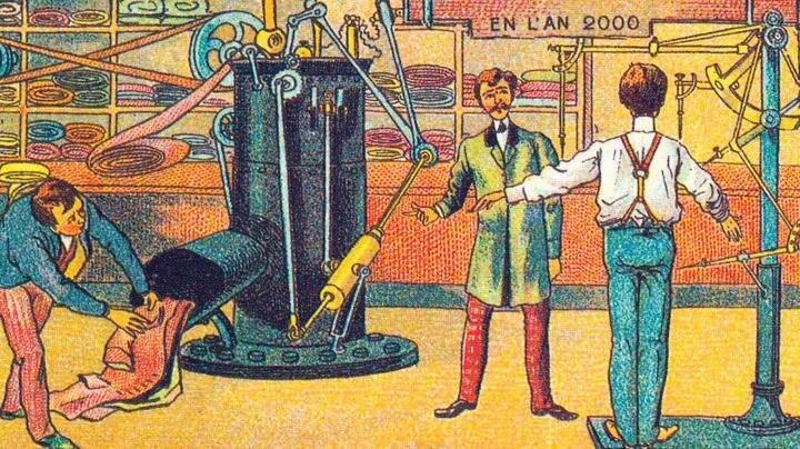 Dem 3D-Druck 100 Jahre voraus: der dampfgetriebene Maßschneider.