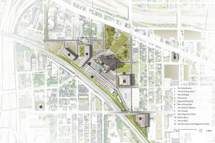 Numerous modernizing projects and new buildings are planned for the entire area