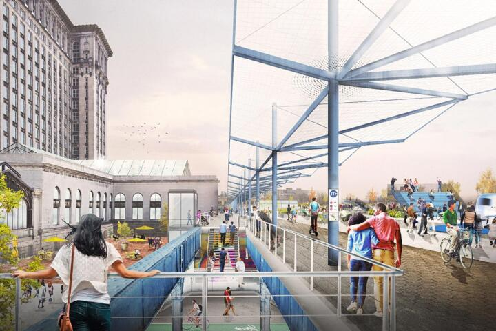 This is what the platform to the elevated tracks could look like later