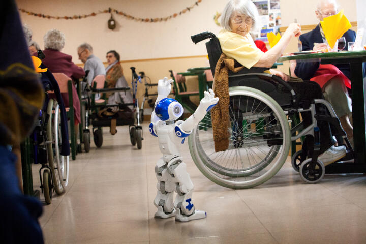 Virtually human: today, robots are already used as substitutes for social contacts where caregivers lack the time for personal interaction