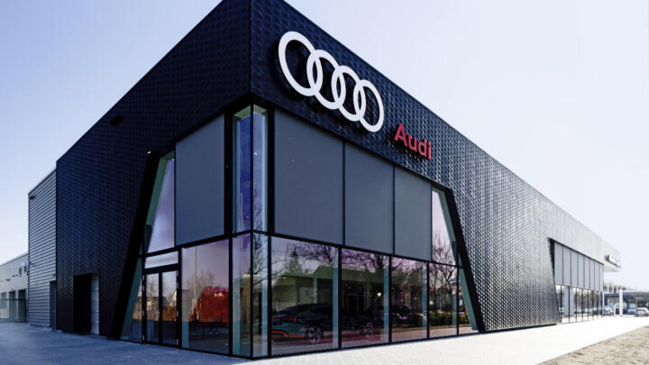 ... like in the elements of the façade of this car dealership