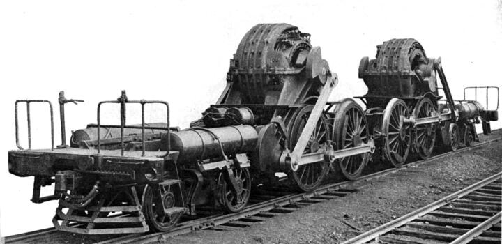 <strong>1834<br/></strong>The American Thomas Davenport presents the first electric vehicle in 1835, albeit only as a model. The Werner Siemens Company ups the ante in 1879 with the first electric locomotive deemed to be fit for field use. The picture shows a PRR DD1 built in 1911. Its two electric motors already deliver remarkable output of 2,000 hp.