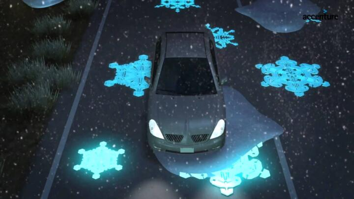 <br/>Vision: thermal paints can warn drivers of black ice